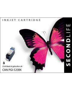Second Life Canon PGI-520 Zwart