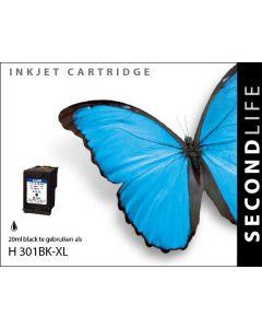Second Life HP 301 XL Zwart