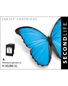 Second Life HP 302 XL Zwart