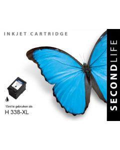 Second Life HP 338 XL Zwart