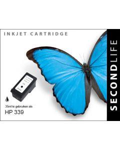 Second Life HP 339 XL Zwart