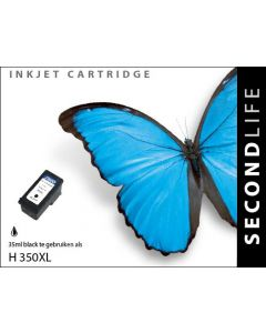 Second Life HP 350 XL Zwart