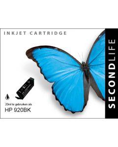 Second Life HP 920 XL Zwart