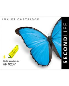Second Life HP 920 XL Geel