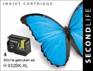 Second Life HP 932 XL Zwart