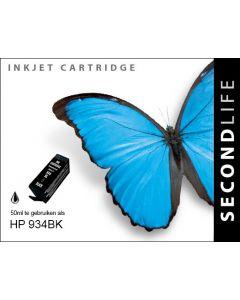 Second Life HP 934 XL Zwart