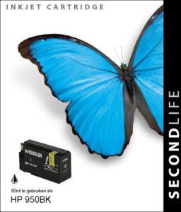 Second Life HP 950 XL Zwart